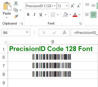 PrecisionID Code 128 Fonts 10.2018