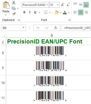 PrecisionID EAN UPC Fonts 2018