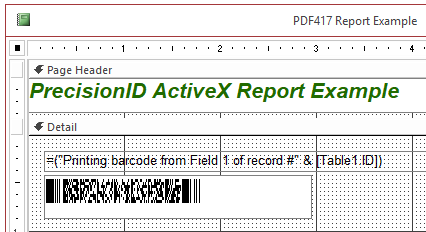 ActiveX 2D DataMatrix and PDF417 Screenshot