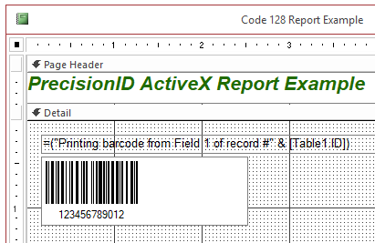 PrecisionID 1D Barcode ActiveX Control Screenshot