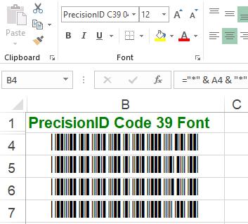 PrecisionID Code 39 Fonts full screenshot