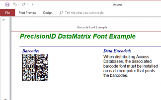 Data Matrix 2D Barcode Fonts
