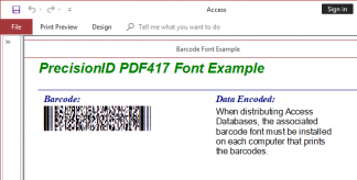 PDF417 2D Barcode Fonts