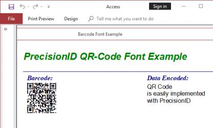 QR-Code 2D Barcode Fonts