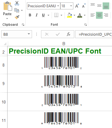 PrecisionID EAN UPC Fonts